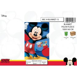 Plaid Polaire Mickey Disney...