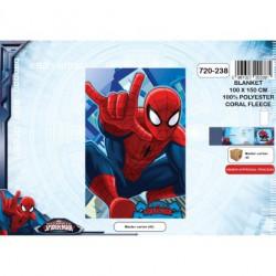 Plaid Polaire Spiderman -...